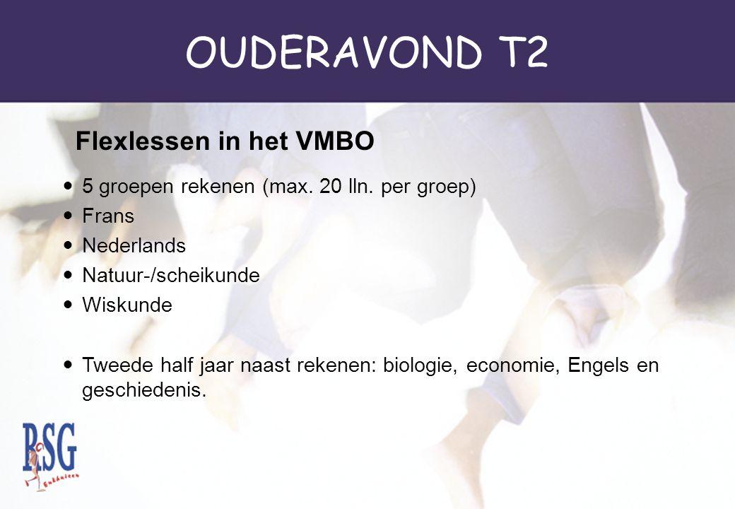 OUDERAVOND T2 Flexlessen in het VMBO