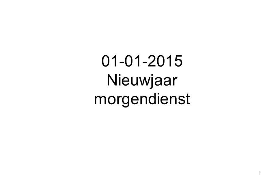 01-01-2015 Nieuwjaar morgendienst