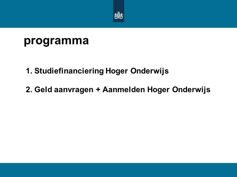 programma 1. Studiefinanciering Hoger Onderwijs