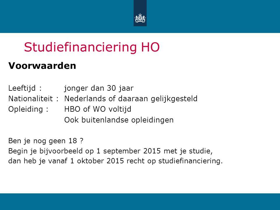 Studiefinanciering HO