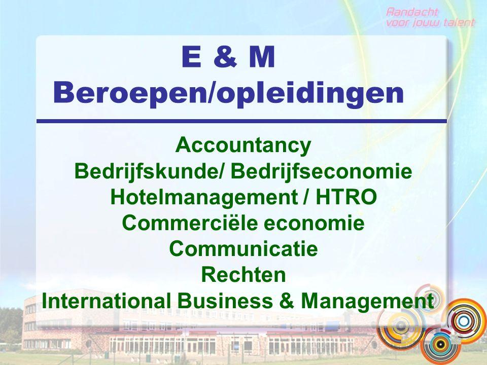 Bedrijfskunde/ Bedrijfseconomie Hotelmanagement / HTRO