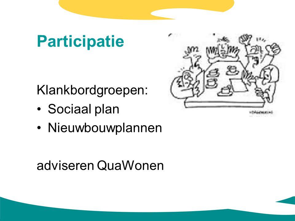 Participatie Klankbordgroepen: Sociaal plan Nieuwbouwplannen