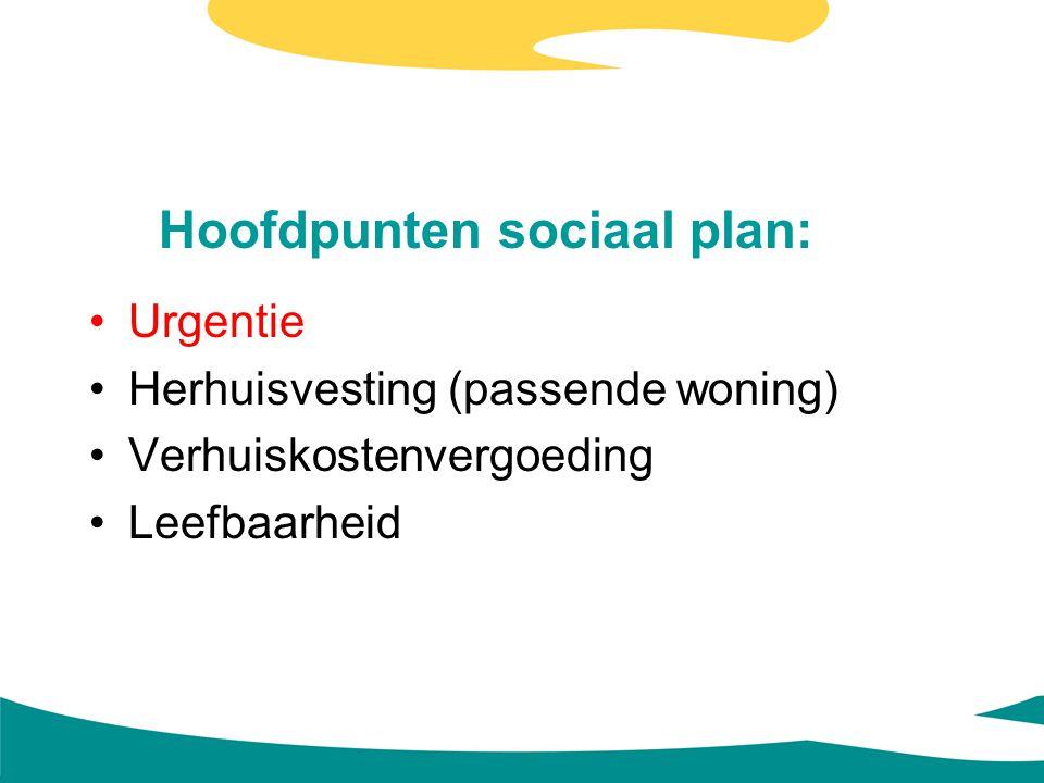 Hoofdpunten sociaal plan: