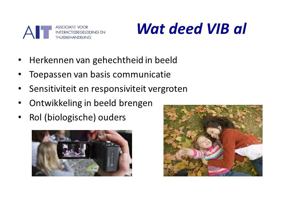 Wat deed VIB al Herkennen van gehechtheid in beeld