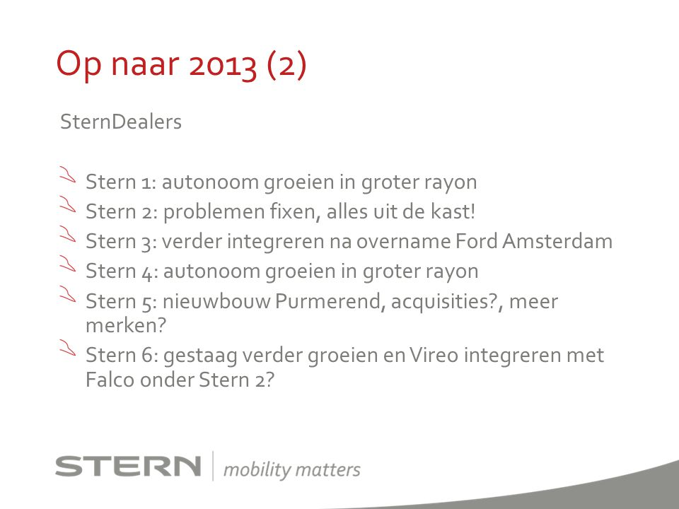 Op naar 2013 (2) SternDealers