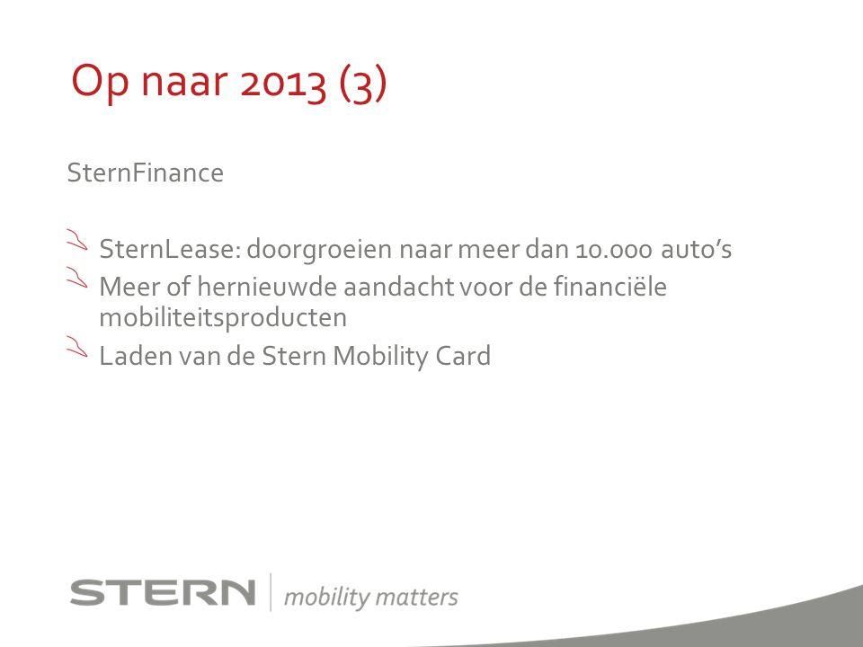 Op naar 2013 (3) SternFinance