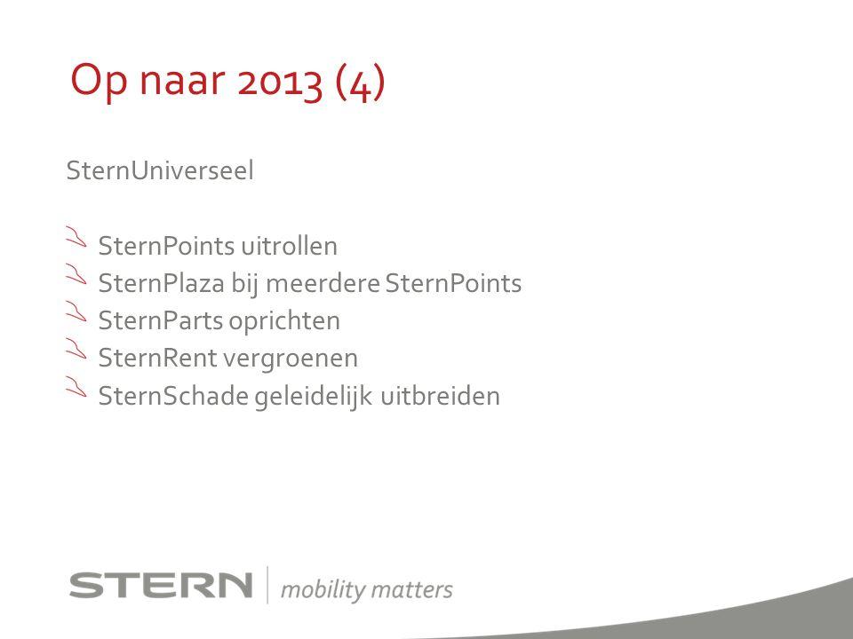Op naar 2013 (4) SternUniverseel SternPoints uitrollen