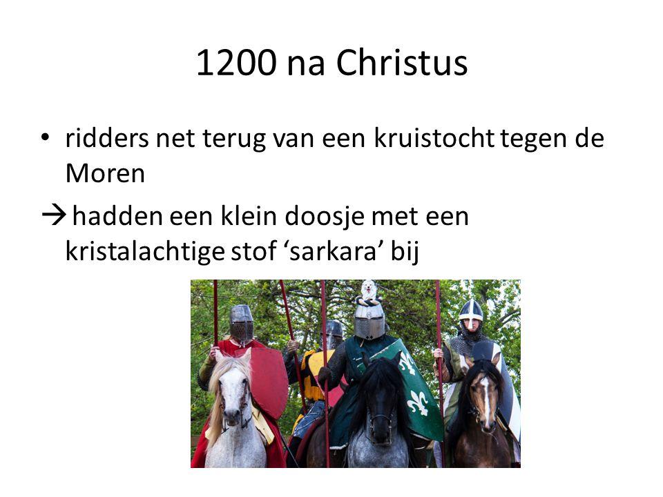 1200 na Christus ridders net terug van een kruistocht tegen de Moren