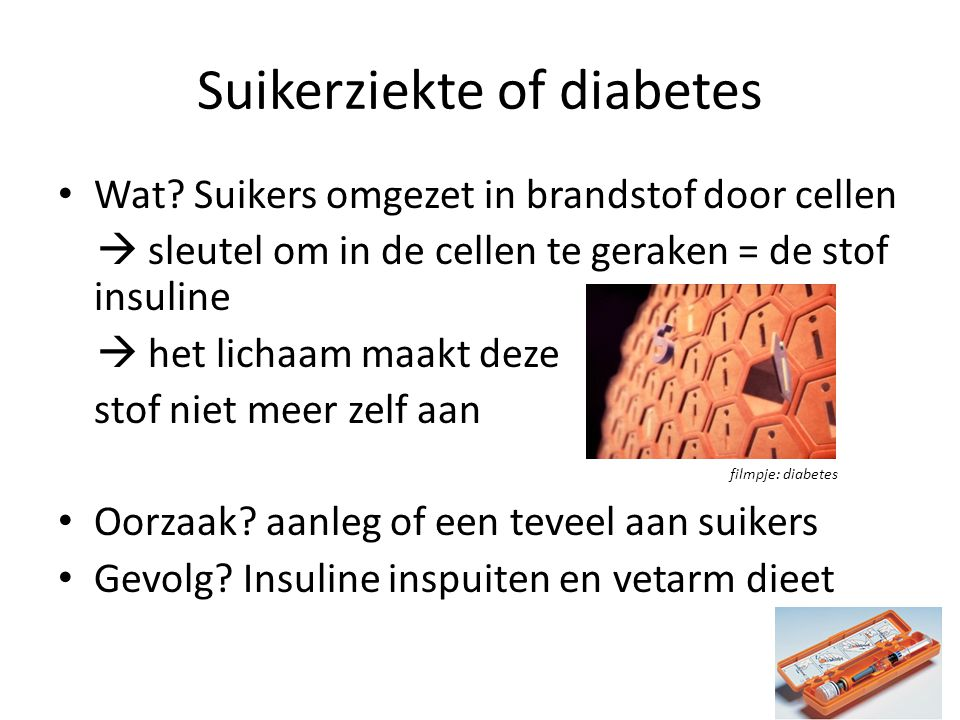 suikerziekte waarde