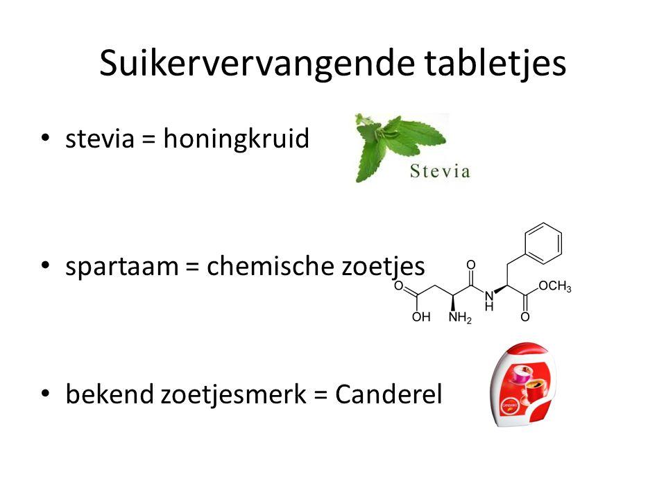 Suikervervangende tabletjes
