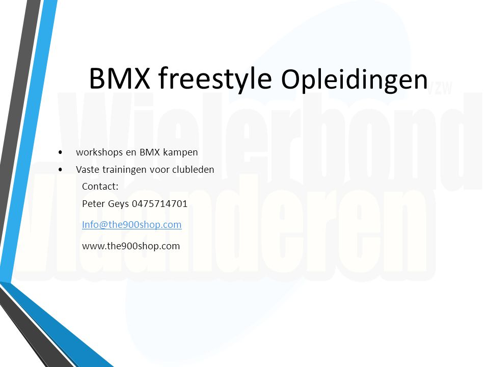 BMX Freestyle Clubs in België