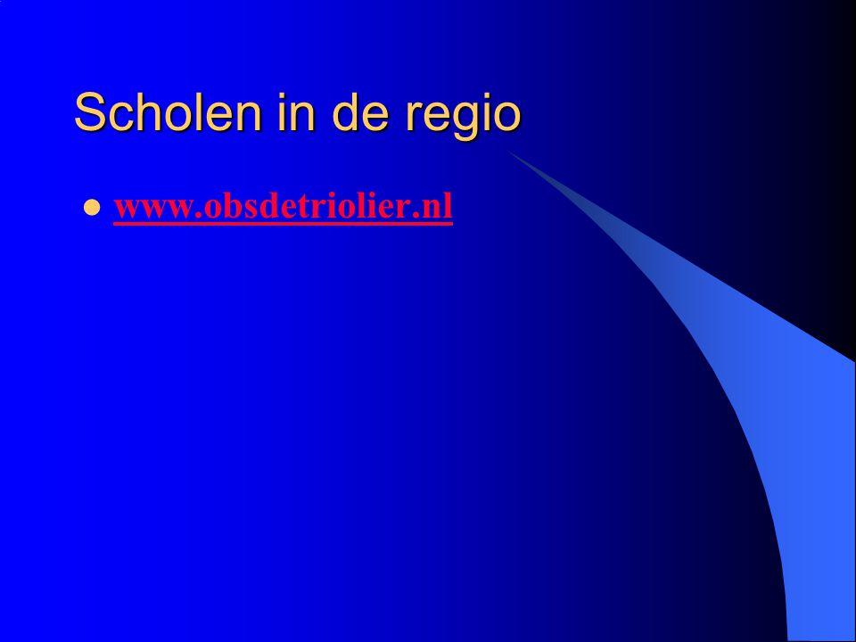Scholen in de regio www.obsdetriolier.nl
