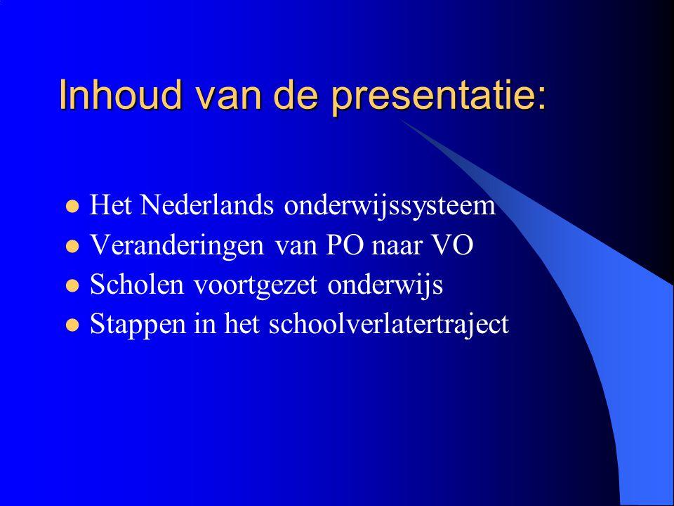 Inhoud van de presentatie: