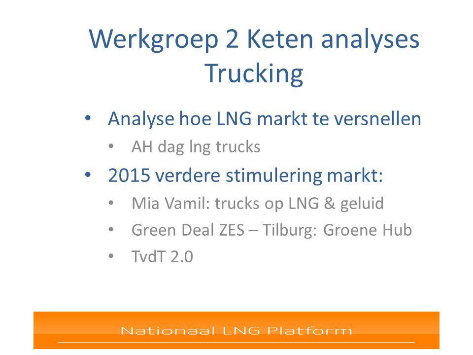 Werkgroep 2 Keten analyses Trucking