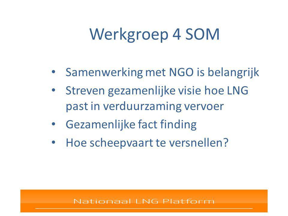 Werkgroep 4 SOM Samenwerking met NGO is belangrijk