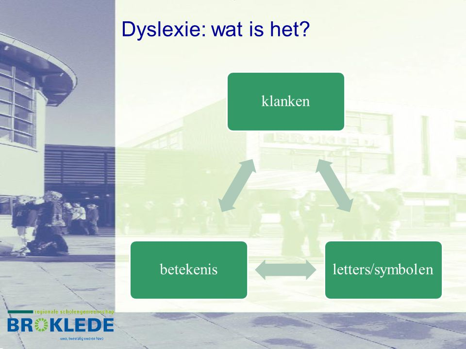 Dyslexie: wat is het klanken letters/symbolen betekenis