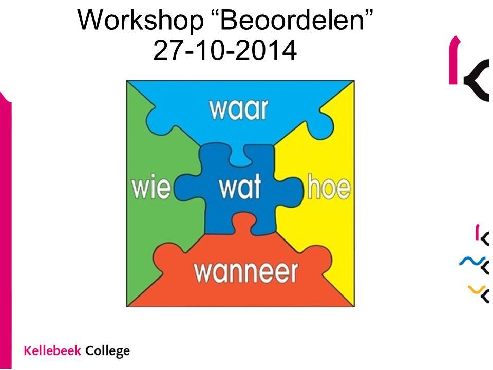 Workshop Beoordelen 27-10-2014