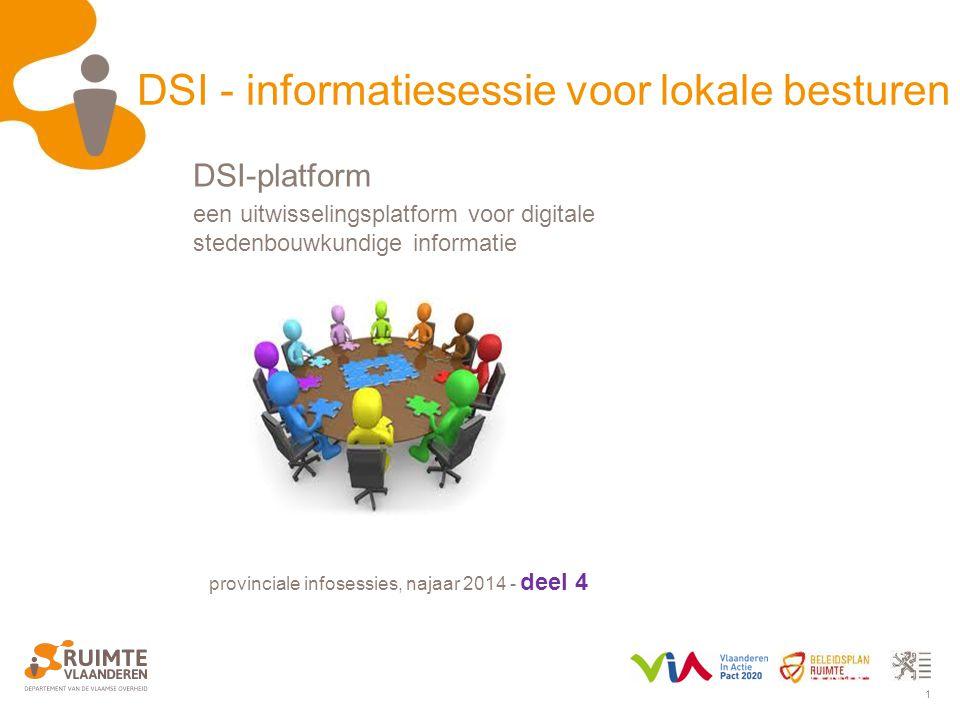 DSI - informatiesessie voor lokale besturen