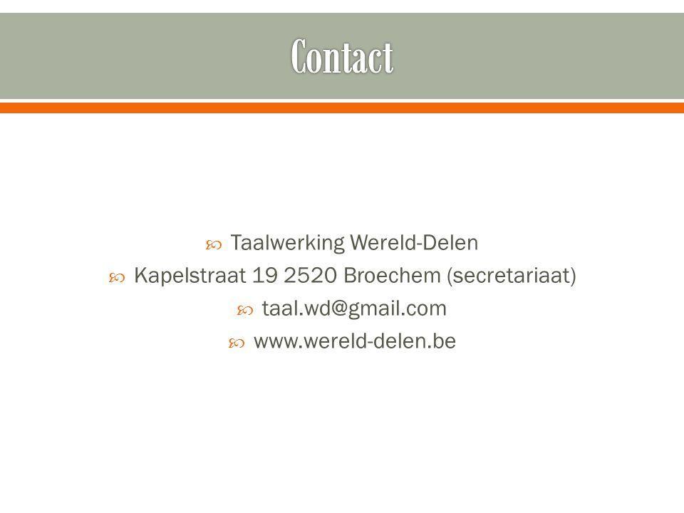 Contact Taalwerking Wereld-Delen