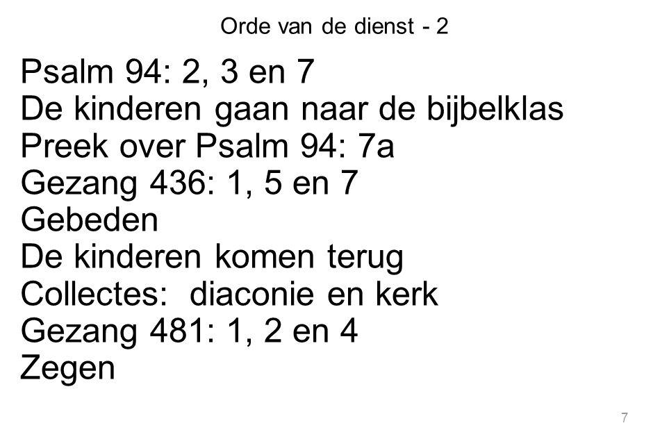 De kinderen gaan naar de bijbelklas Preek over Psalm 94: 7a
