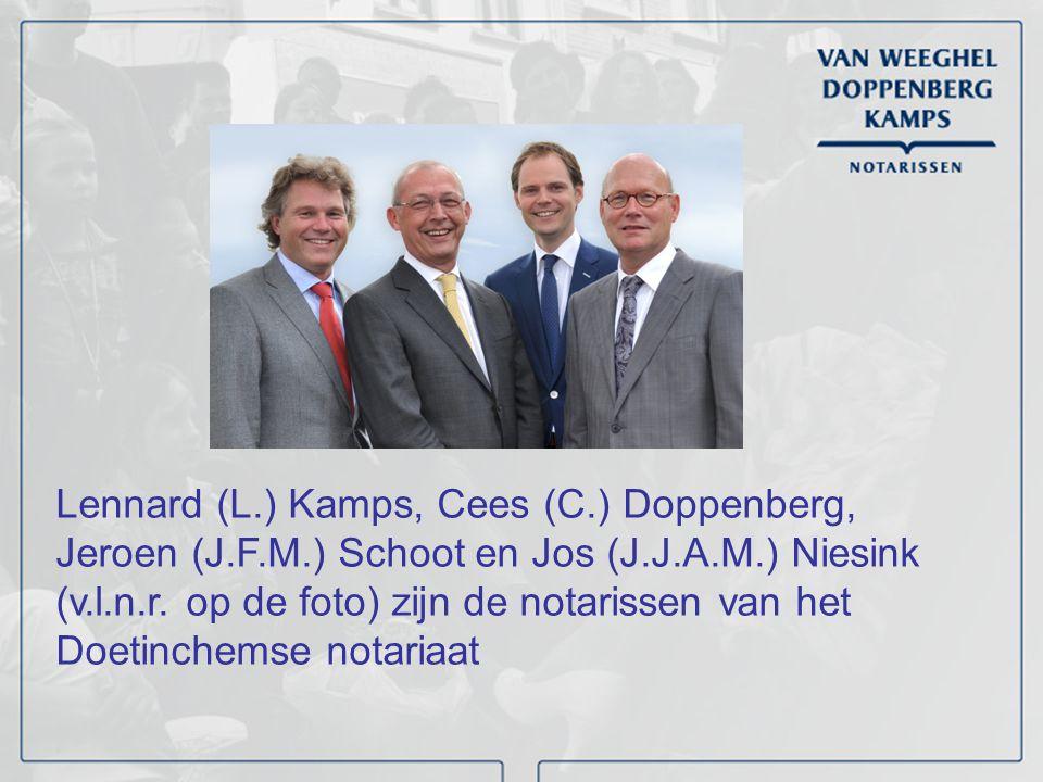 Lennard (L. ) Kamps, Cees (C. ) Doppenberg, Jeroen (J. F. M