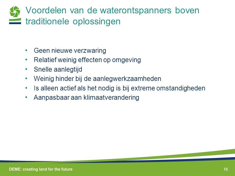 Voordelen van de waterontspanners boven traditionele oplossingen