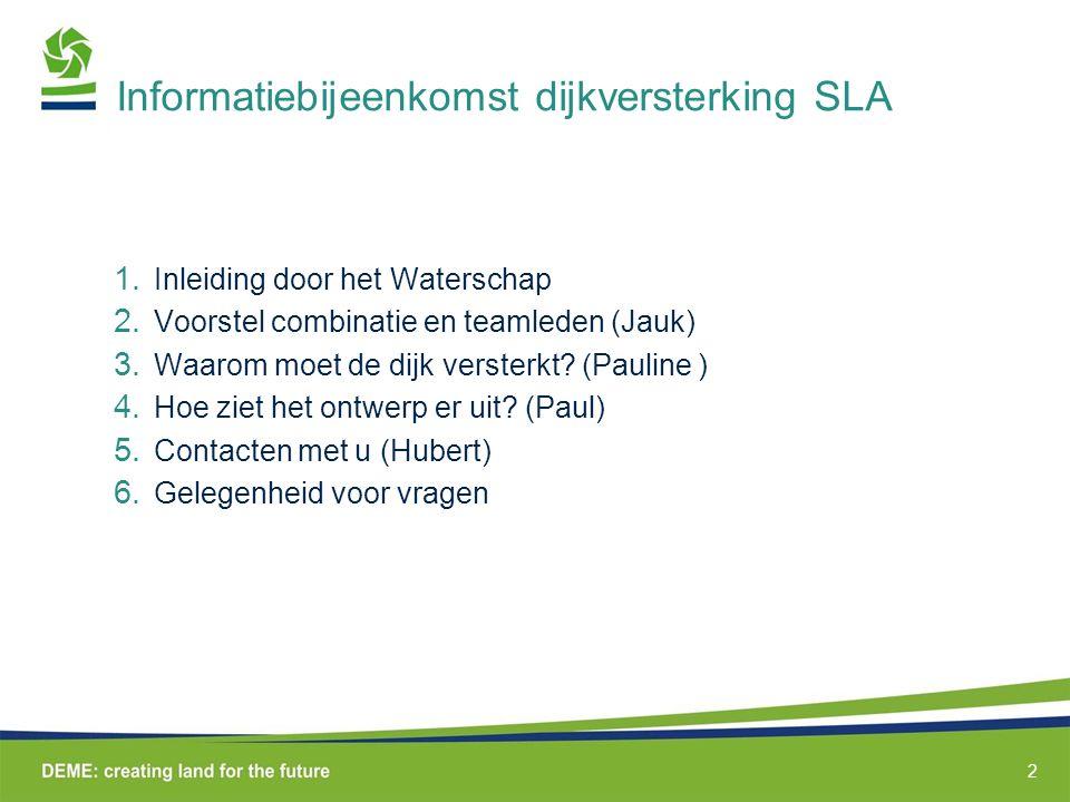 Informatiebijeenkomst dijkversterking SLA
