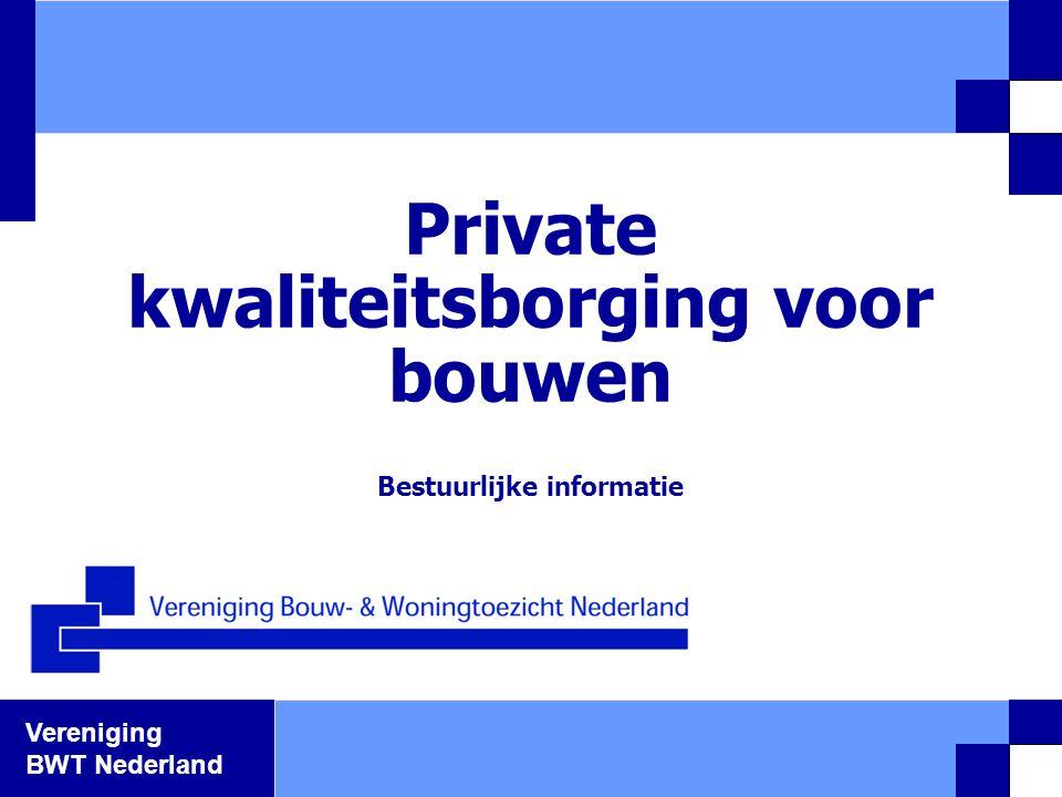 Private kwaliteitsborging voor bouwen