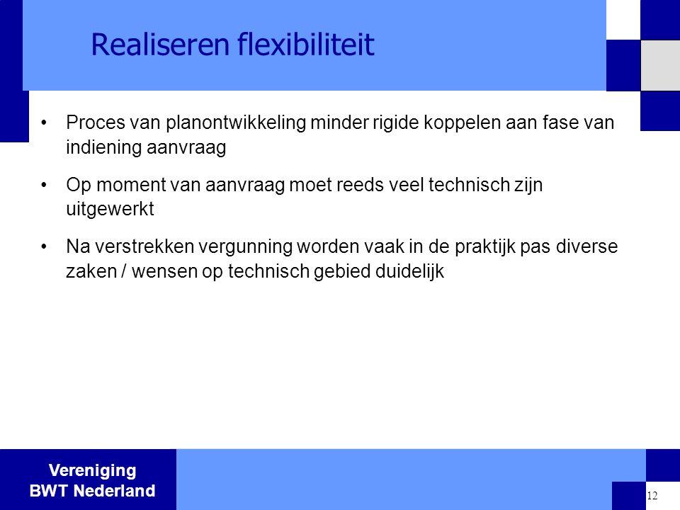 Realiseren flexibiliteit