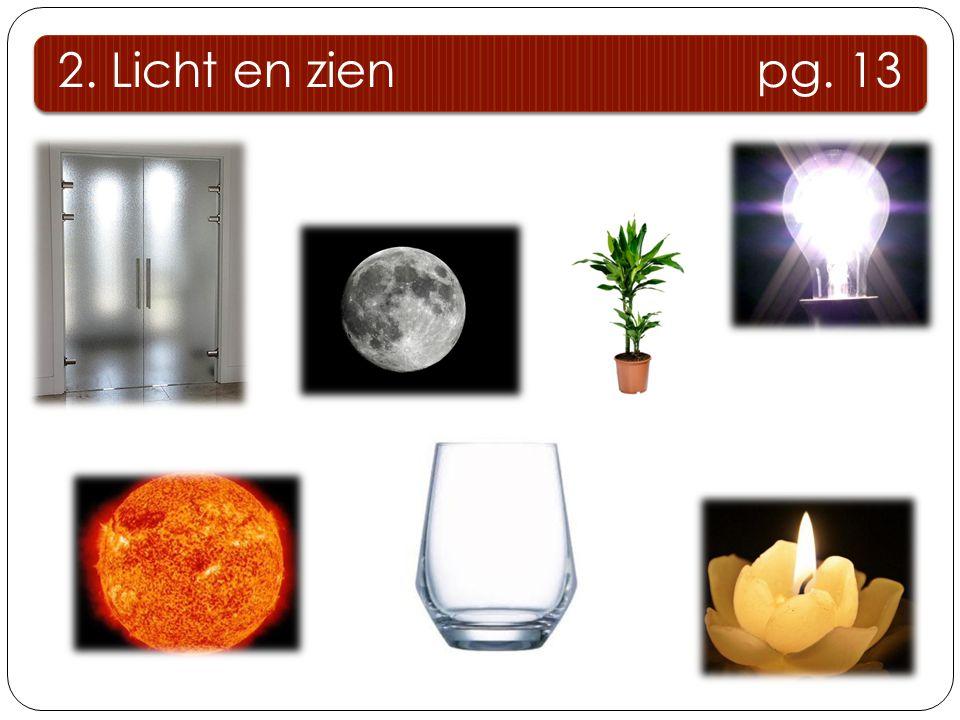 2. Licht en zien pg. 13