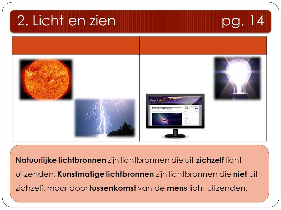 Natuurlijke lichtbronnen Kunstmatige lichtbronnen