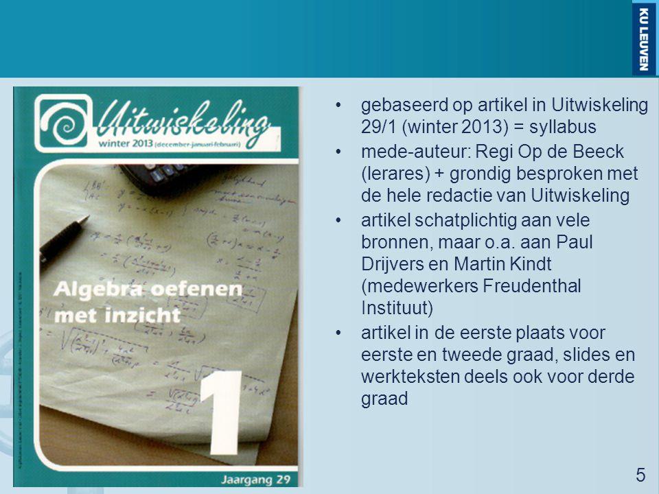 gebaseerd op artikel in Uitwiskeling 29/1 (winter 2013) = syllabus