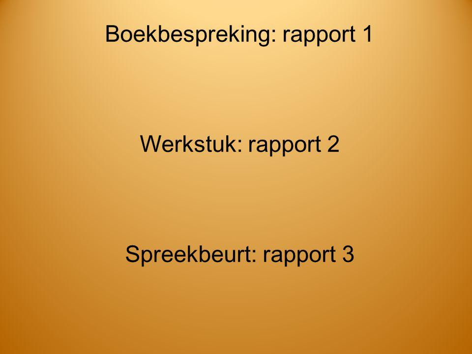 Boekbespreking: rapport 1