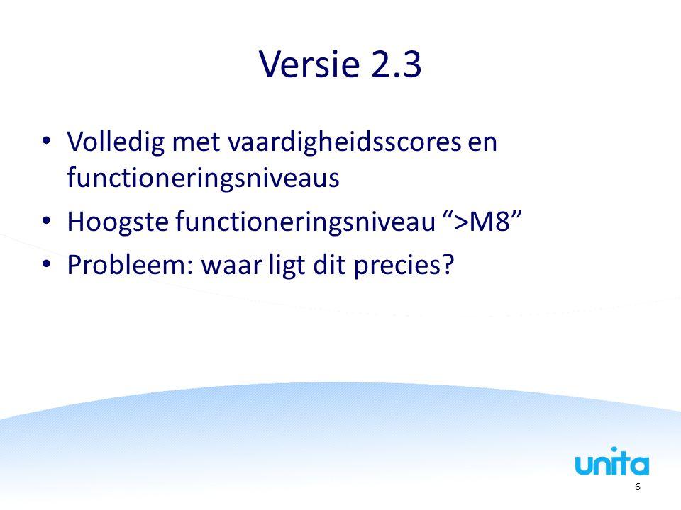 Versie 2.3 Volledig met vaardigheidsscores en functioneringsniveaus