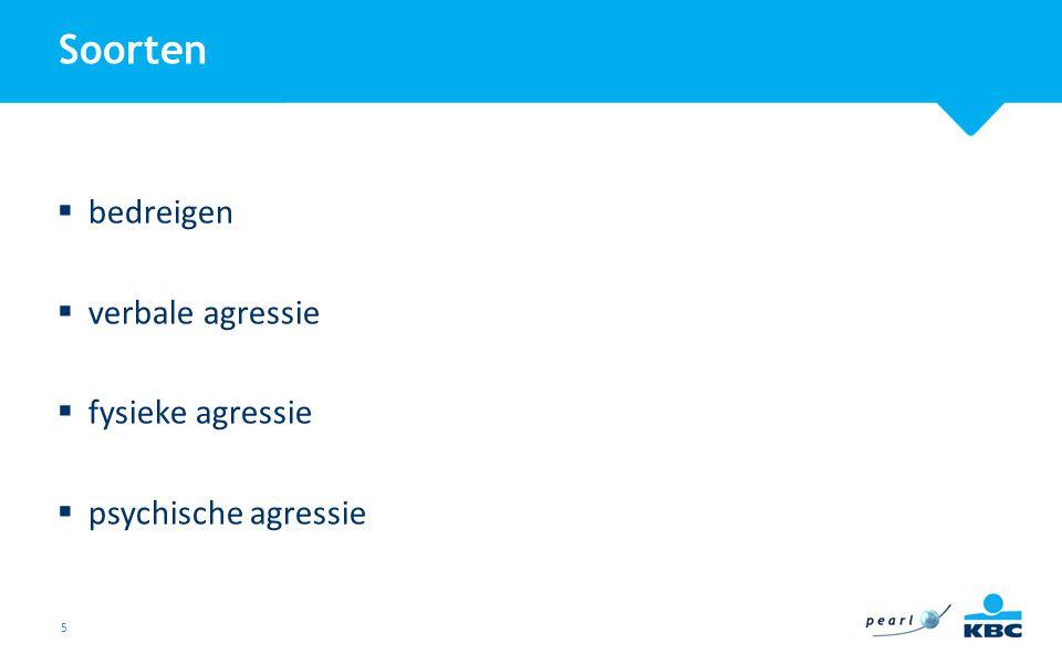 Soorten bedreigen verbale agressie fysieke agressie