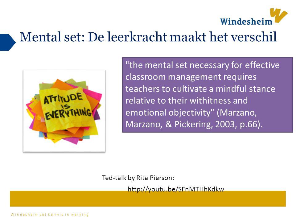 Mental set: De leerkracht maakt het verschil