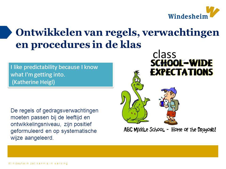 Ontwikkelen van regels, verwachtingen en procedures in de klas