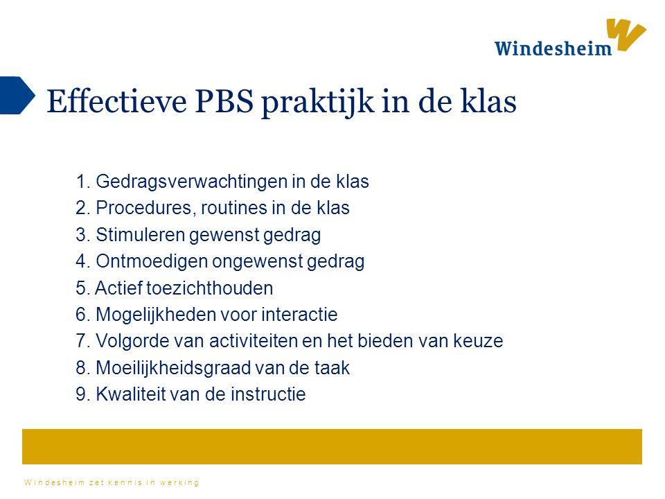 Effectieve PBS praktijk in de klas