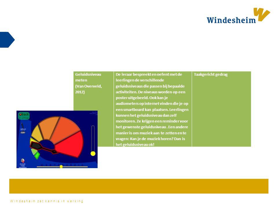 Geluidsniveau meten (Van Overveld, 2012)
