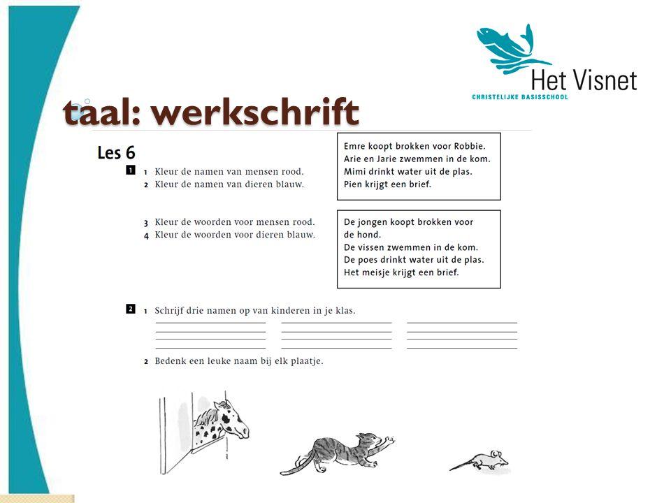 taal: werkschrift