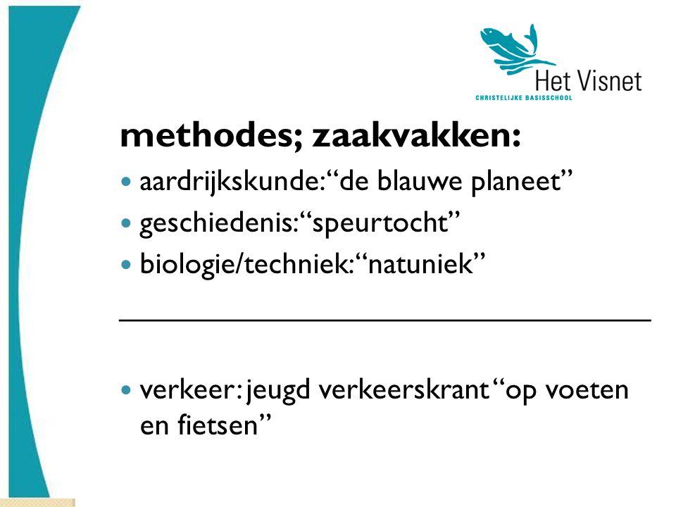 methodes; zaakvakken: