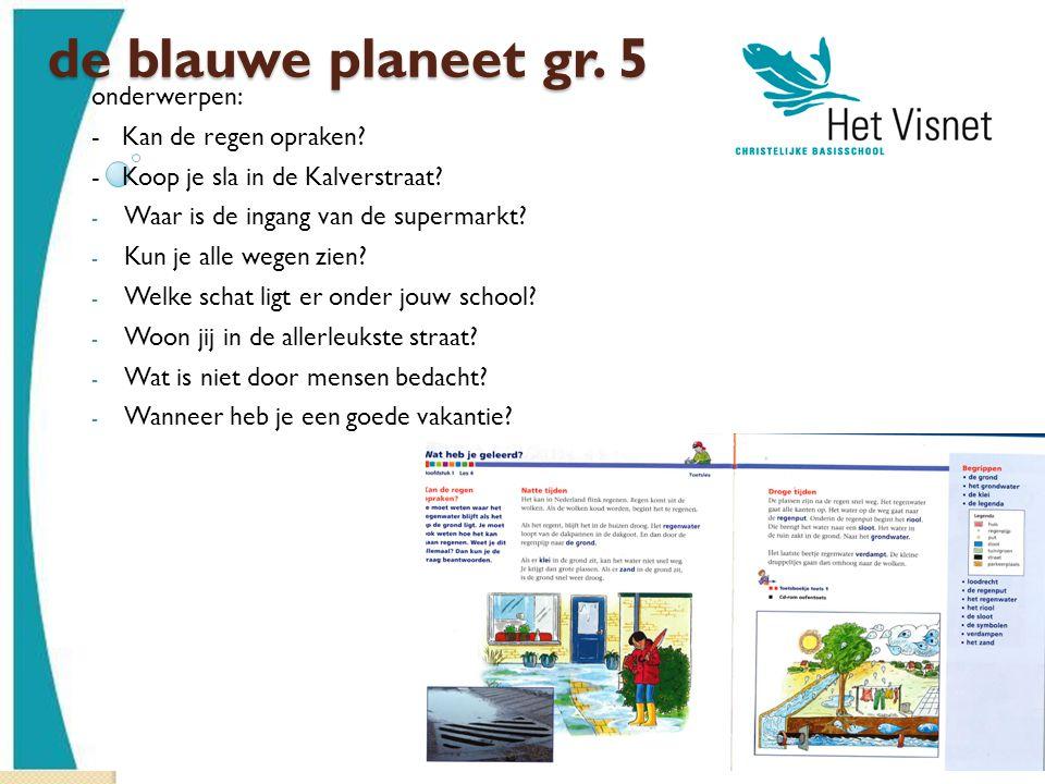 de blauwe planeet gr. 5 onderwerpen: - Kan de regen opraken
