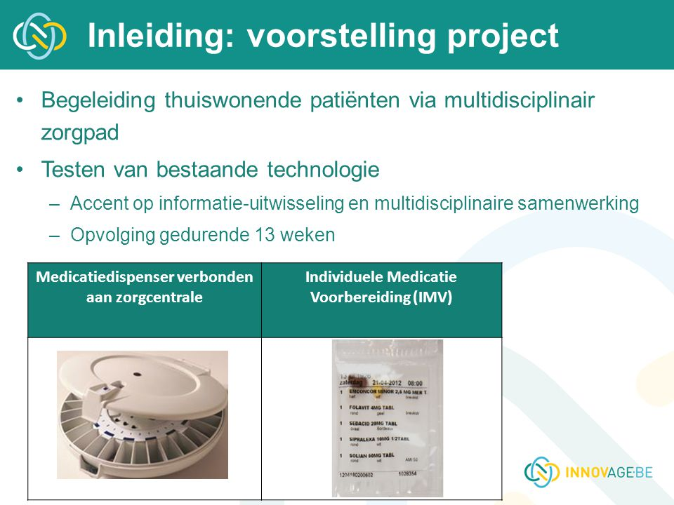 Inleiding: voorstelling project
