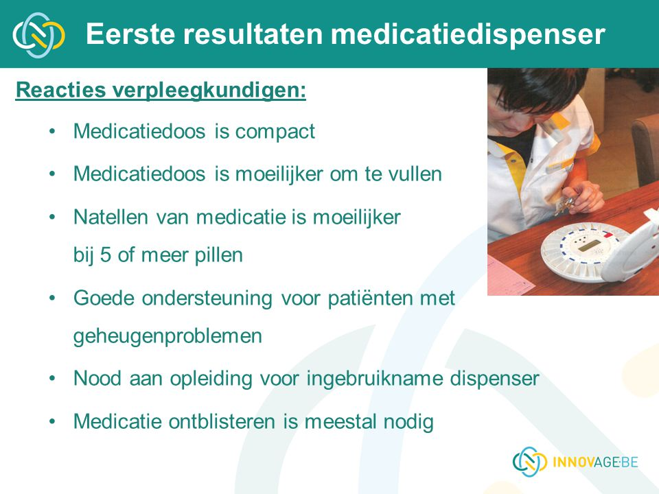 Eerste resultaten medicatiedispenser