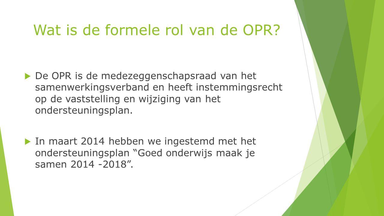 Wat is de formele rol van de OPR