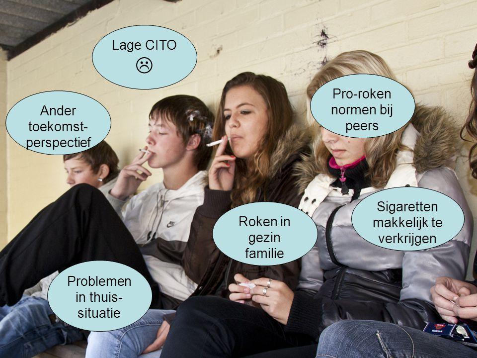  Lage CITO Pro-roken normen bij peers Ander toekomst- perspectief