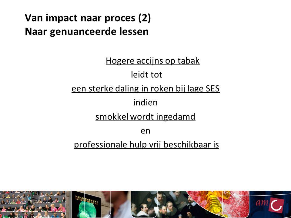 Van impact naar proces (2) Naar genuanceerde lessen