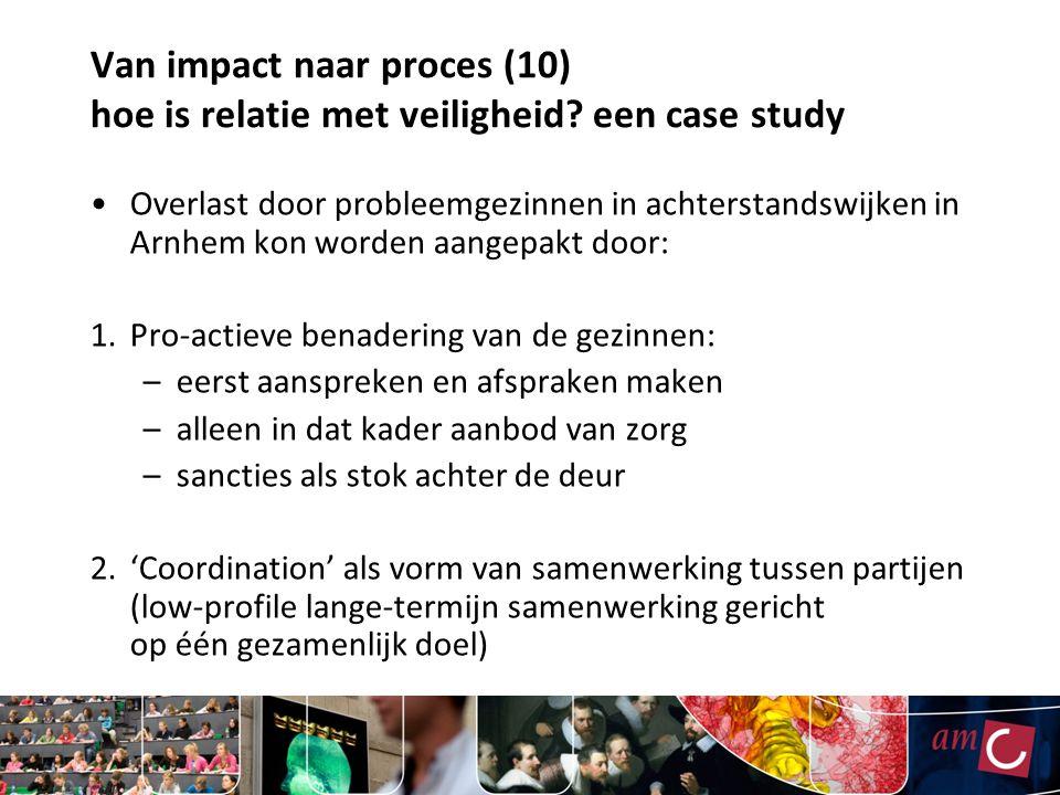 Van impact naar proces (10) hoe is relatie met veiligheid