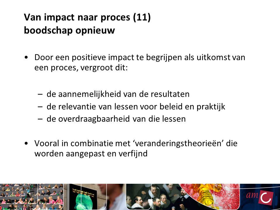 Van impact naar proces (11) boodschap opnieuw