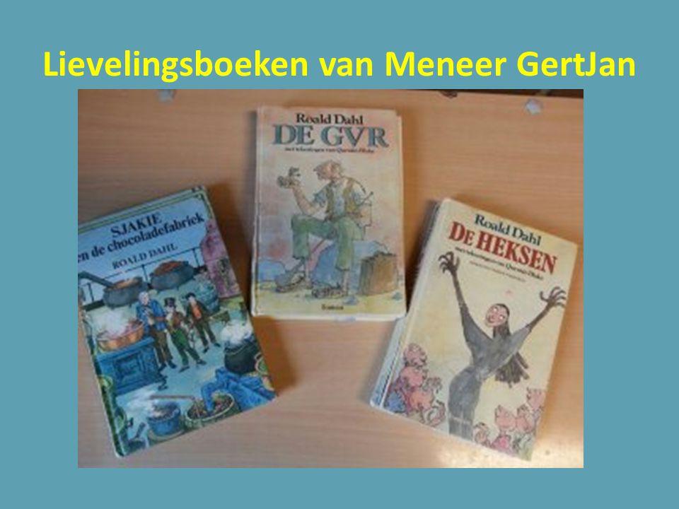 Lievelingsboeken van Meneer GertJan